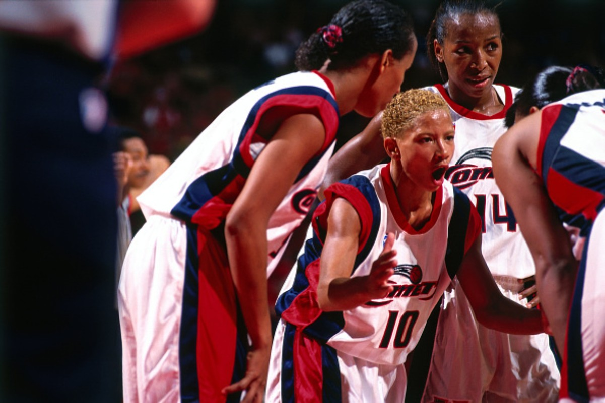 Kim Perrot won three WNBA with the Houston Comets