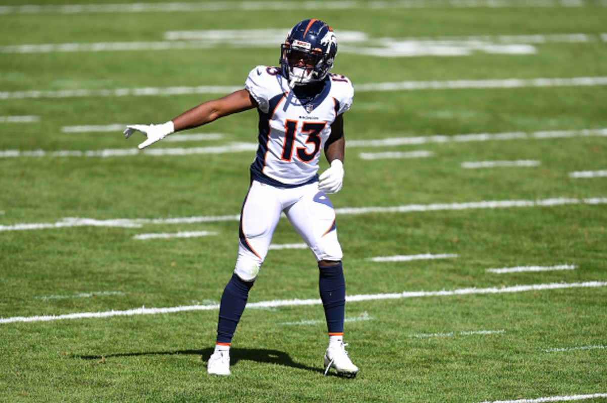 KJ Hamler is in his first season with the Denver Broncos