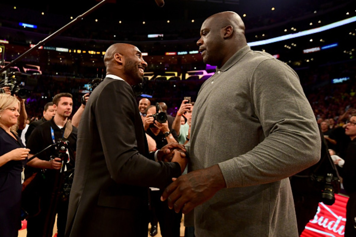 Shaquille O'Neal once slapped Kobe Bryant during a pick up game
