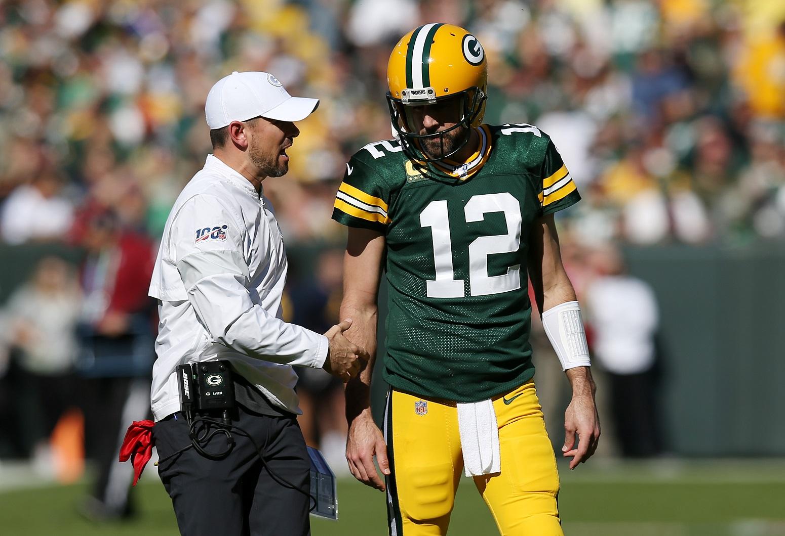 Aaron Rodgers Packers Matt LaFleur