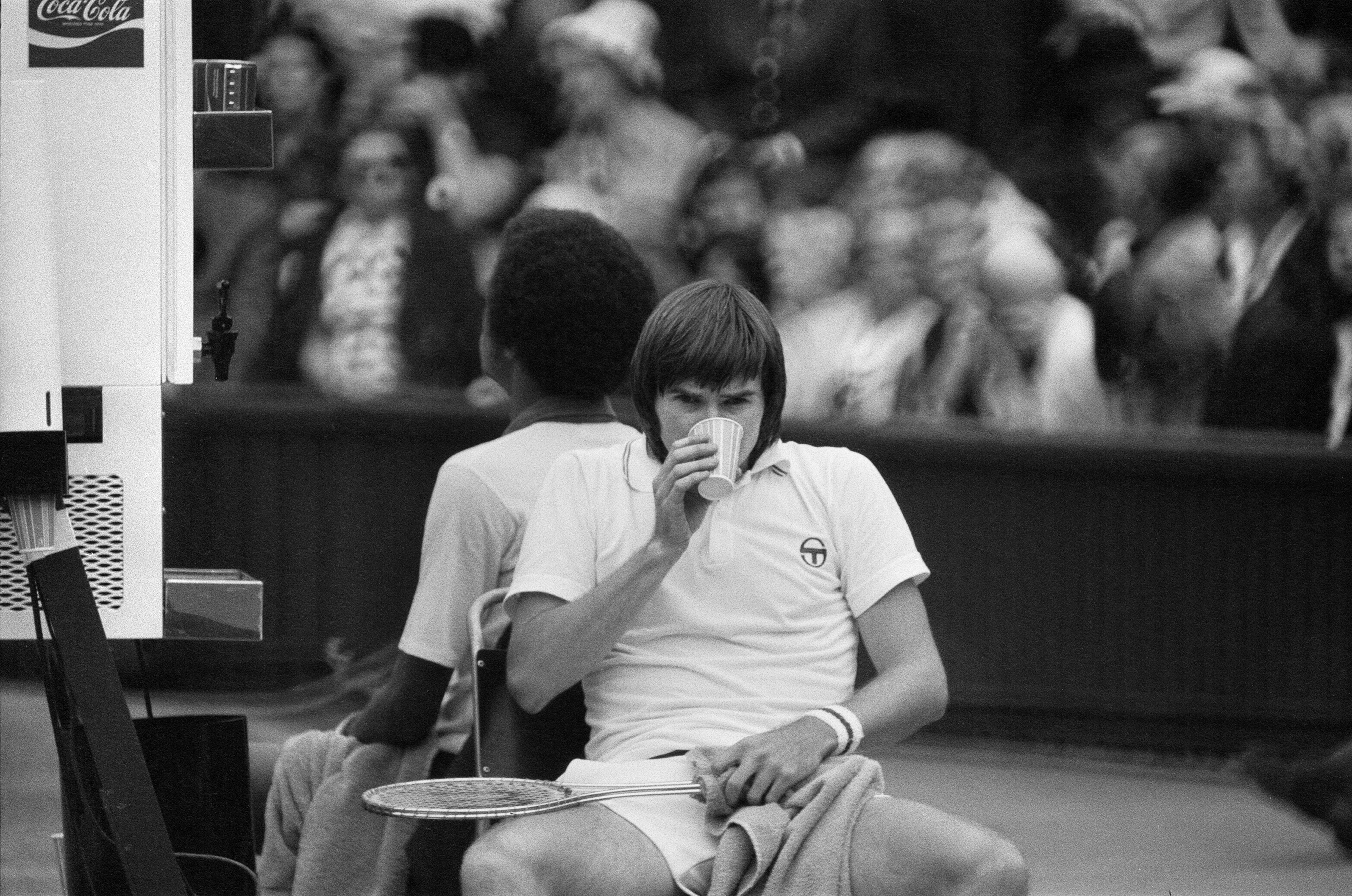 Jimmy Connors and Arthur Ashe in 1975