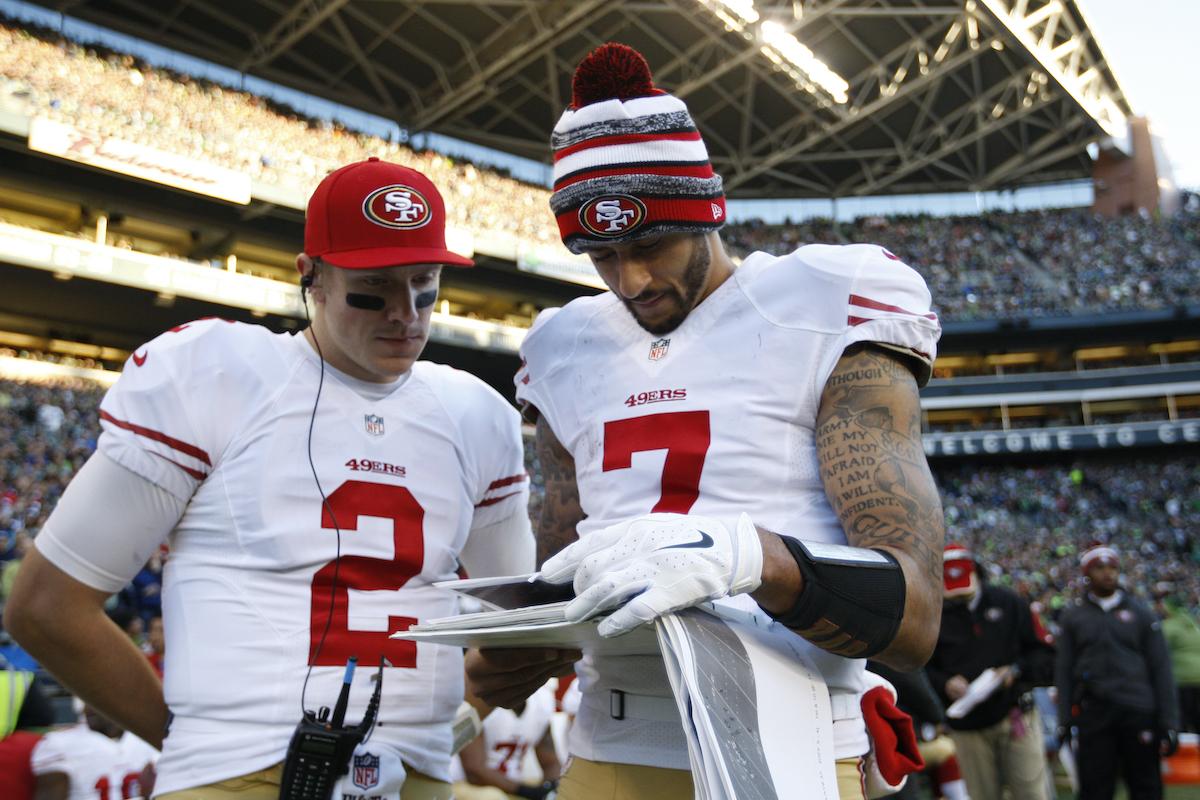 49ers' Blaine Gabbert and Colin Kaepernick