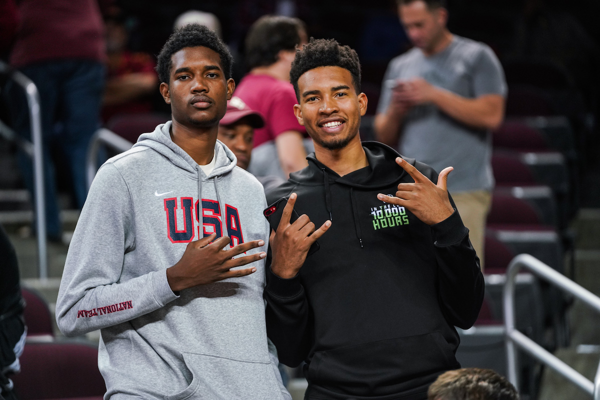 Evan Mobley and Isaiah Mobley