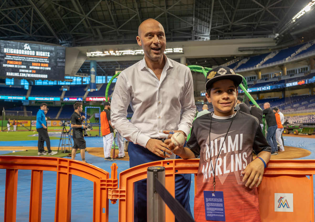How Derek Jeter Divides His Loyalty Between the Yankees and Marlins