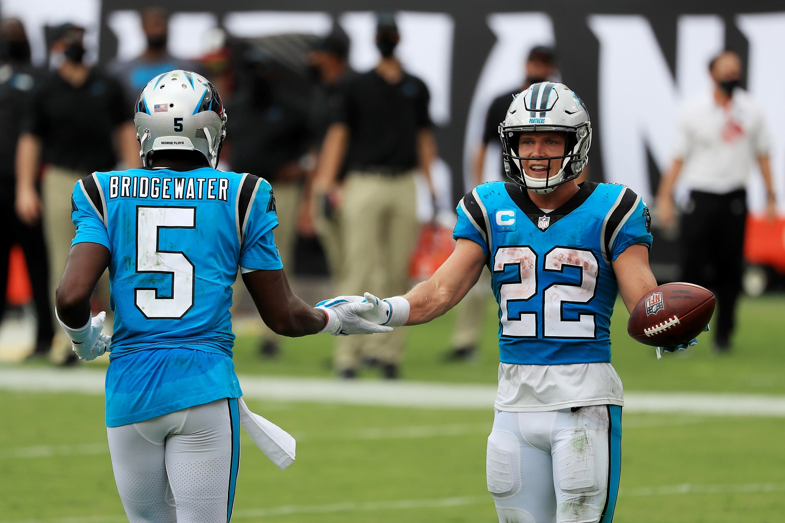 Christian McCaffrey Carolina Panthers excited