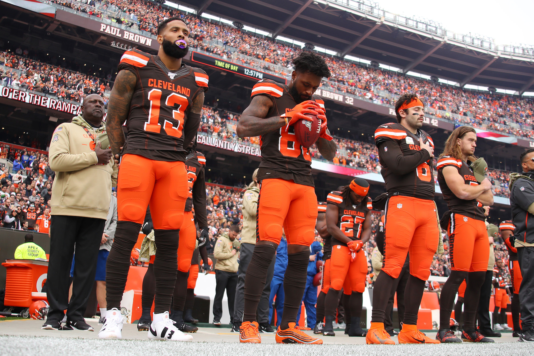 Jarvis Landry, Odell Beckham, Jr., and Baker Mayfield are all expected to play for the Cleveland Browns on Sunday.