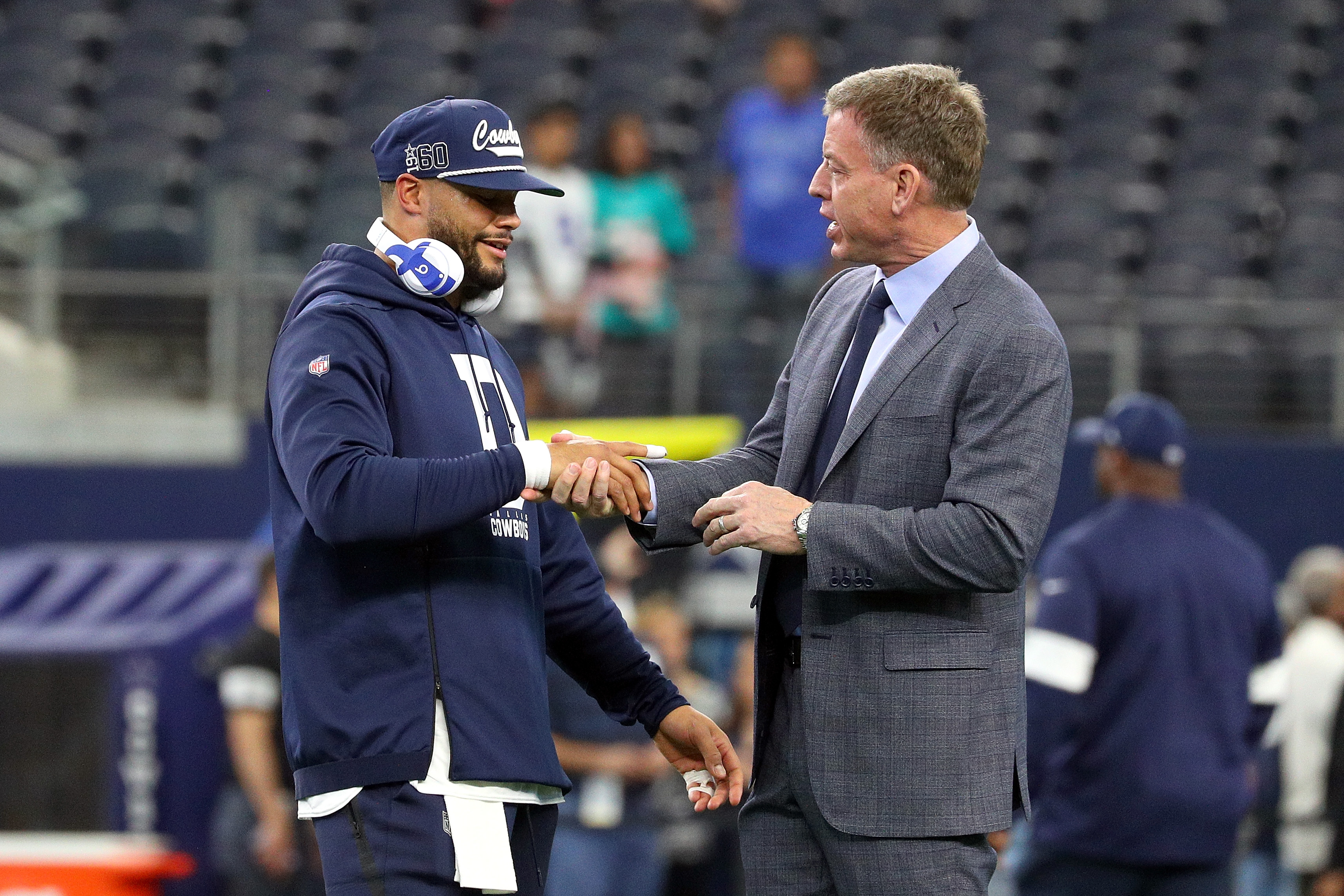 Dak Prescott and Troy Aikman