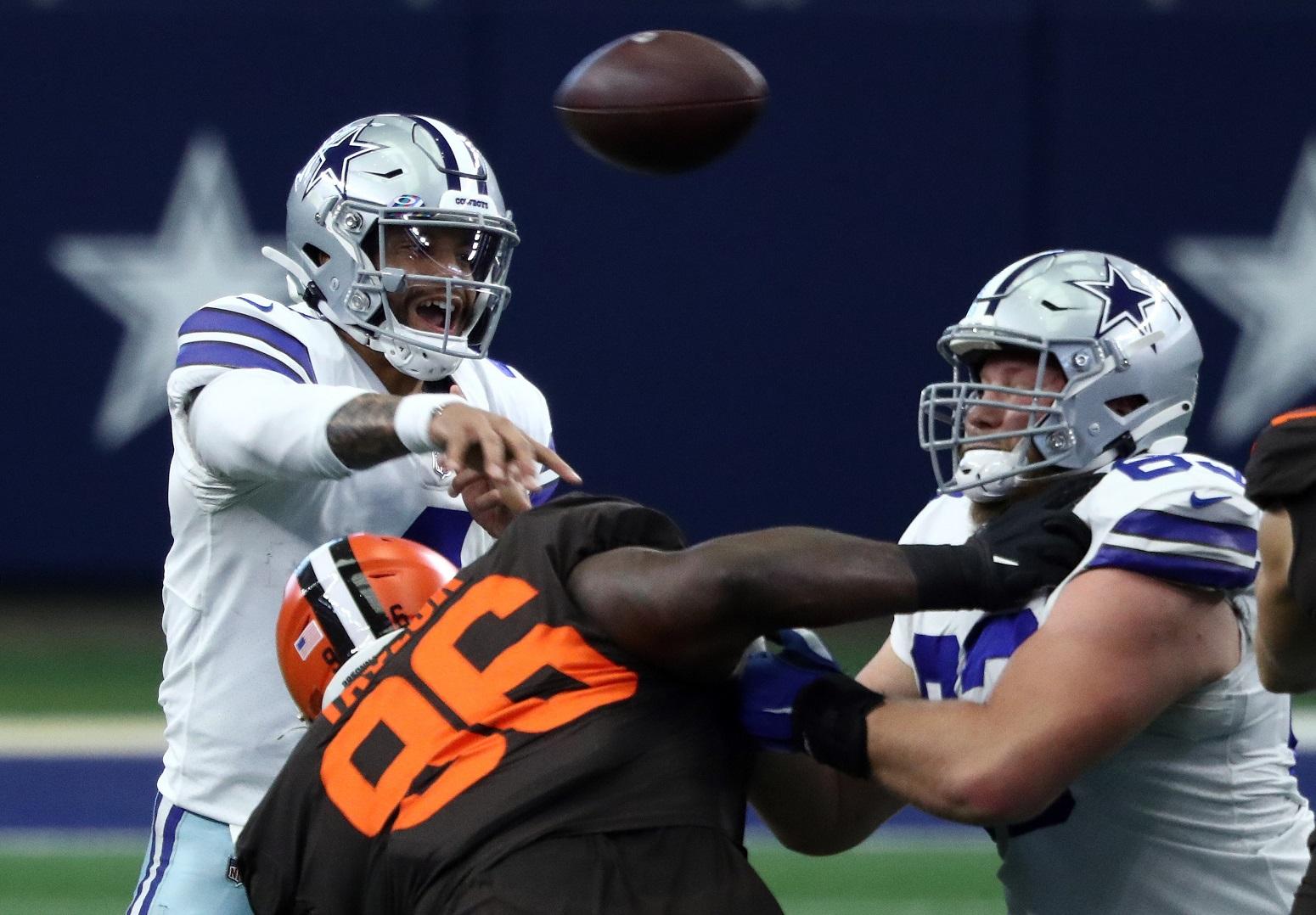 Dak Prescott lost Dallas Cowboys protection