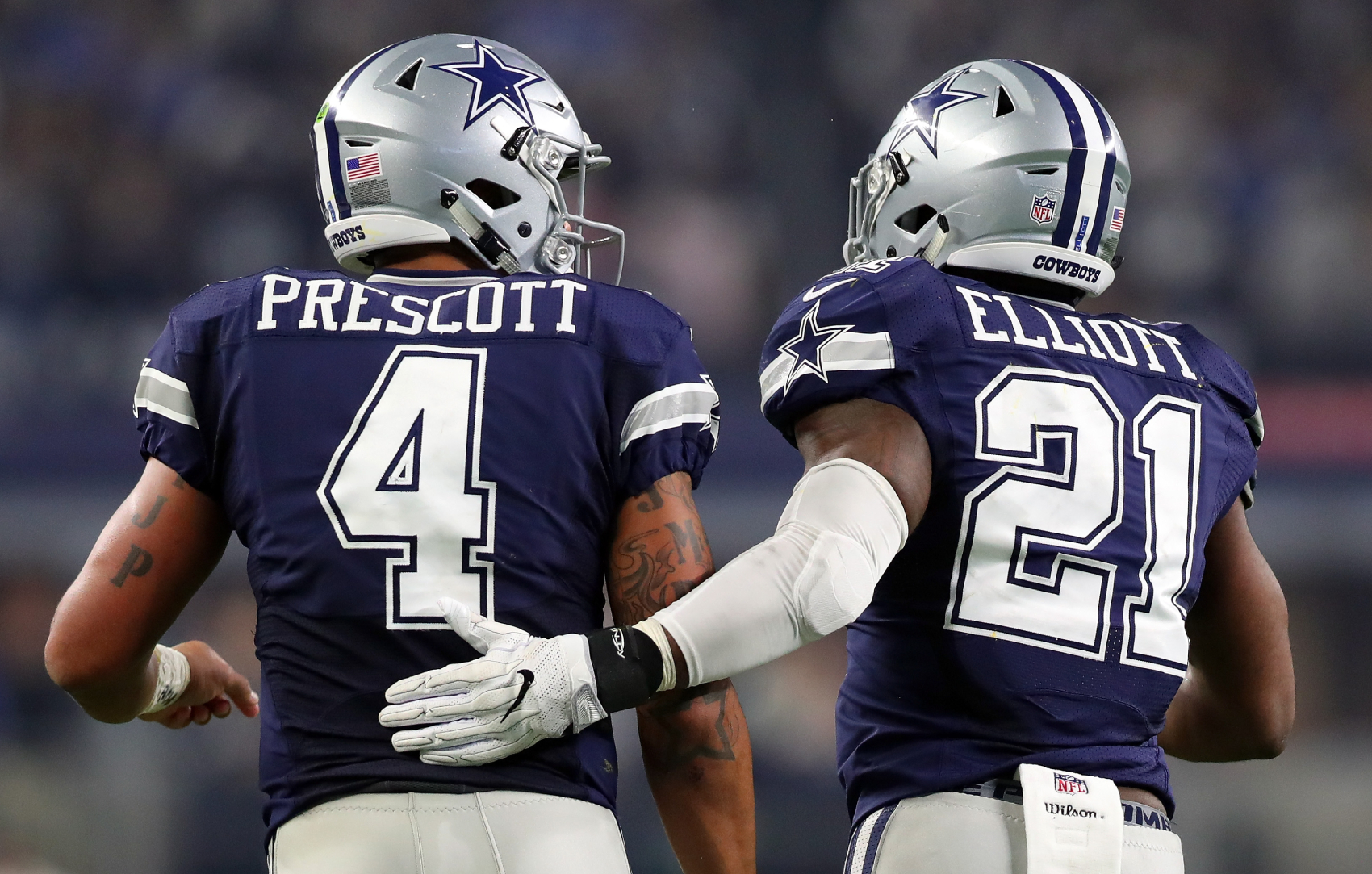 Dallas Cowboys QB Dak Prescott suffered a horrific injury on Sunday. After the game, Ezekiel Elliott sent an emotional message to his friend.
