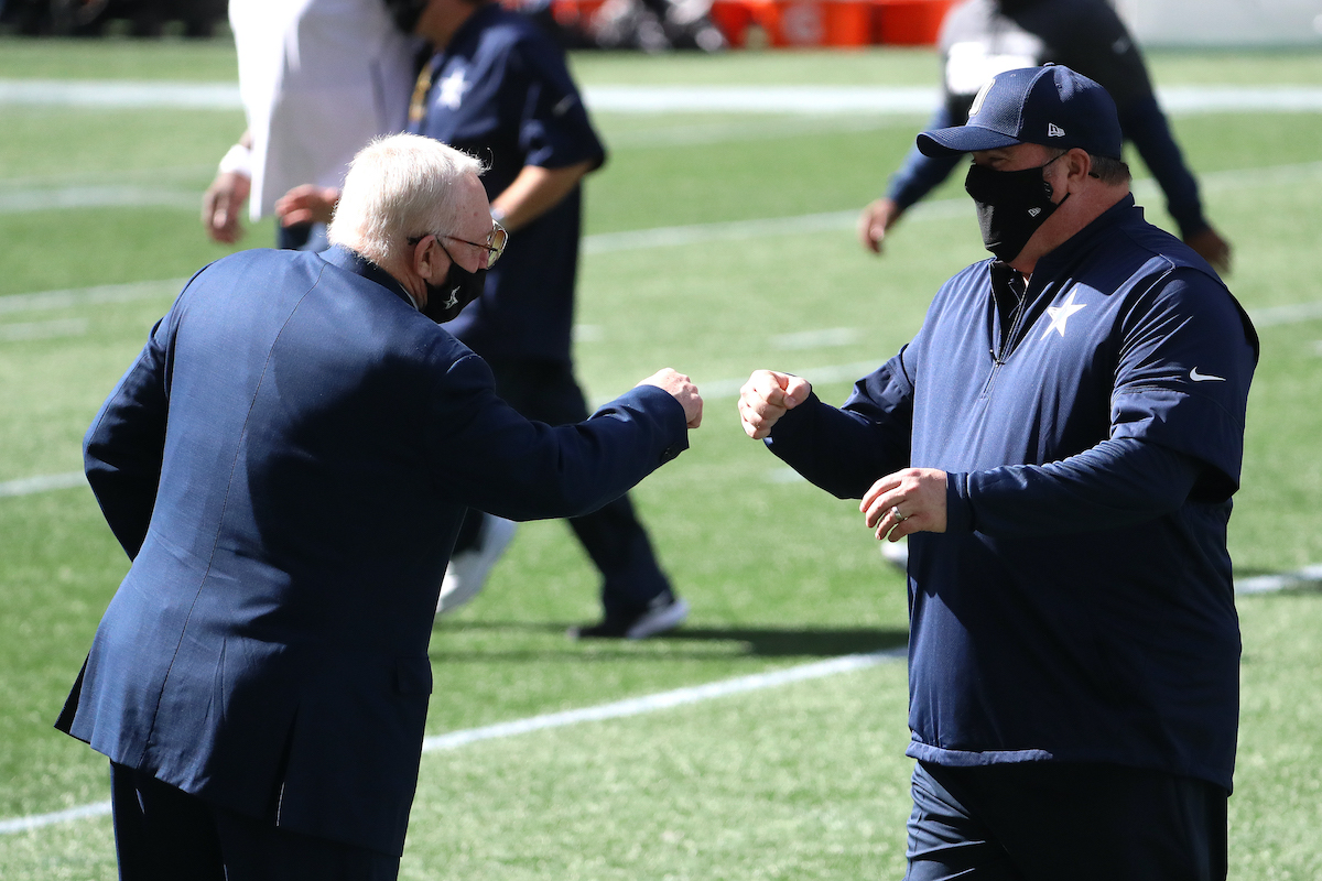 Cowboys owner Jerry Jones and head coach Mike McCarthy