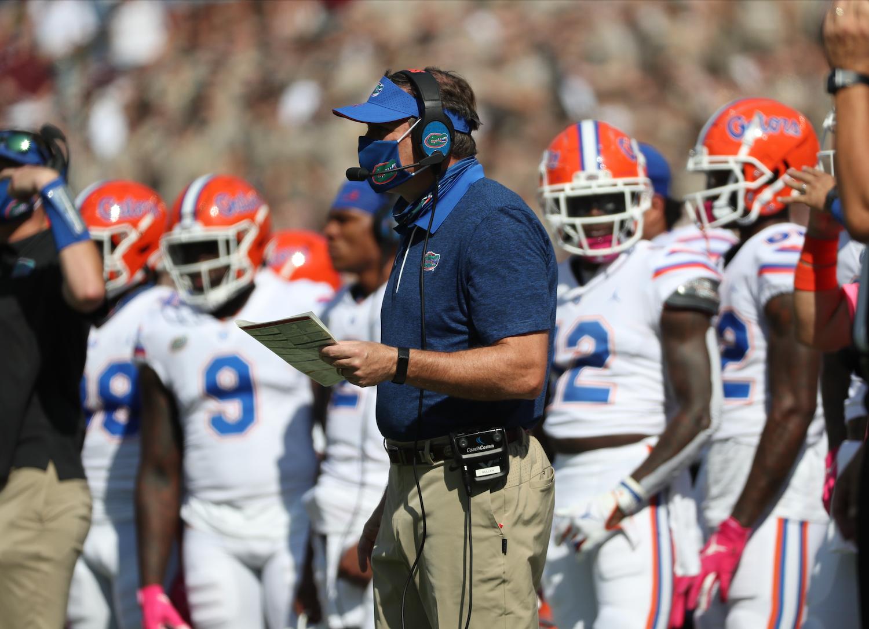 Head Coach Dan Mullen of the Florida Gators