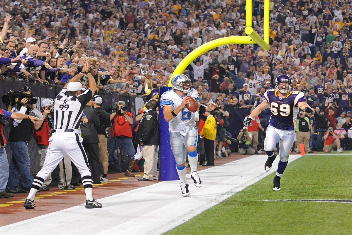 Detroit Lions quarterback Dan Orlovsky was involved in possibly the worst play in NFL history when he ran out the back of the endzone in a 2008 loss.