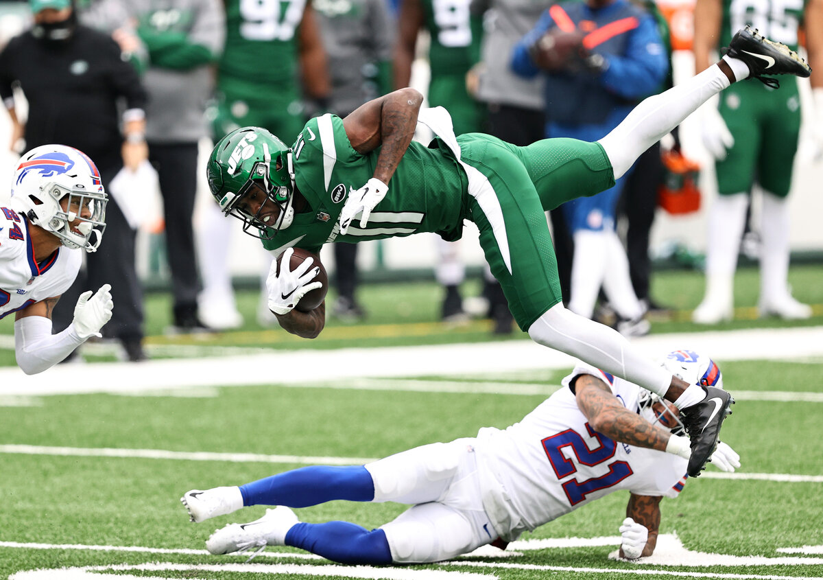 The New York Jets used a second-round pick on receiver Denzel Mims in April. A week after he made his NFL debut, Mims is ready to be unleashed.