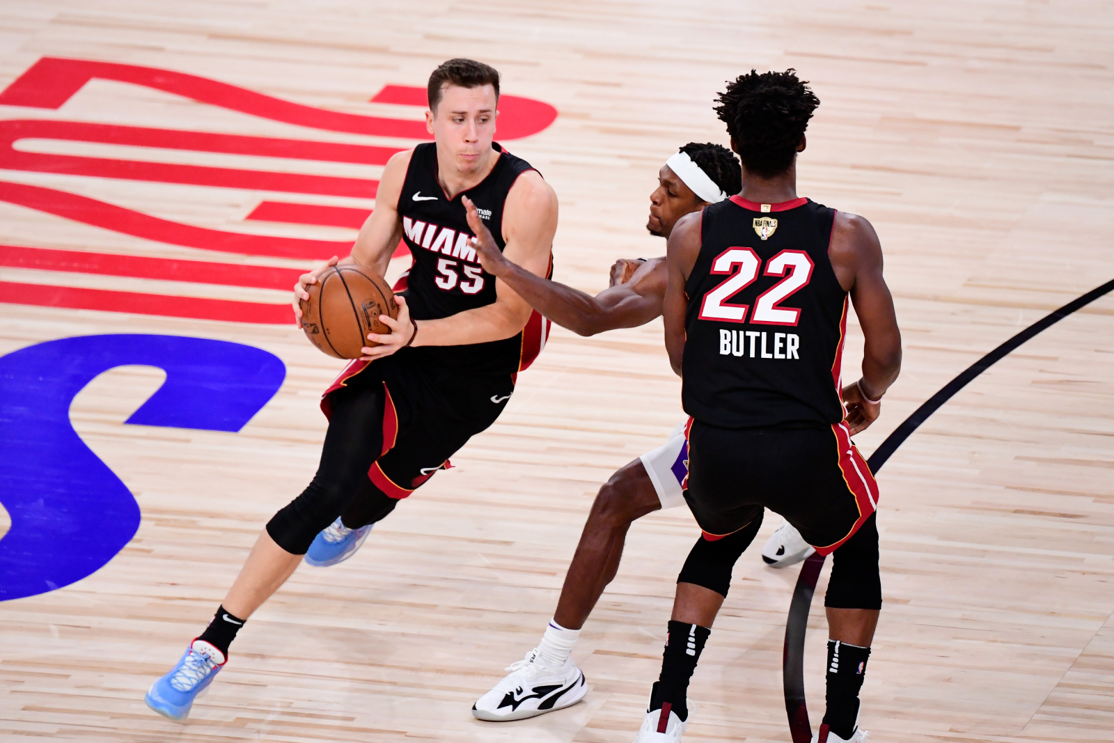 Duncan Robinson and the Miami Heat played the LA Lakers tough in the NBA Finals. The Lakers, though, had something to say to Robinson.