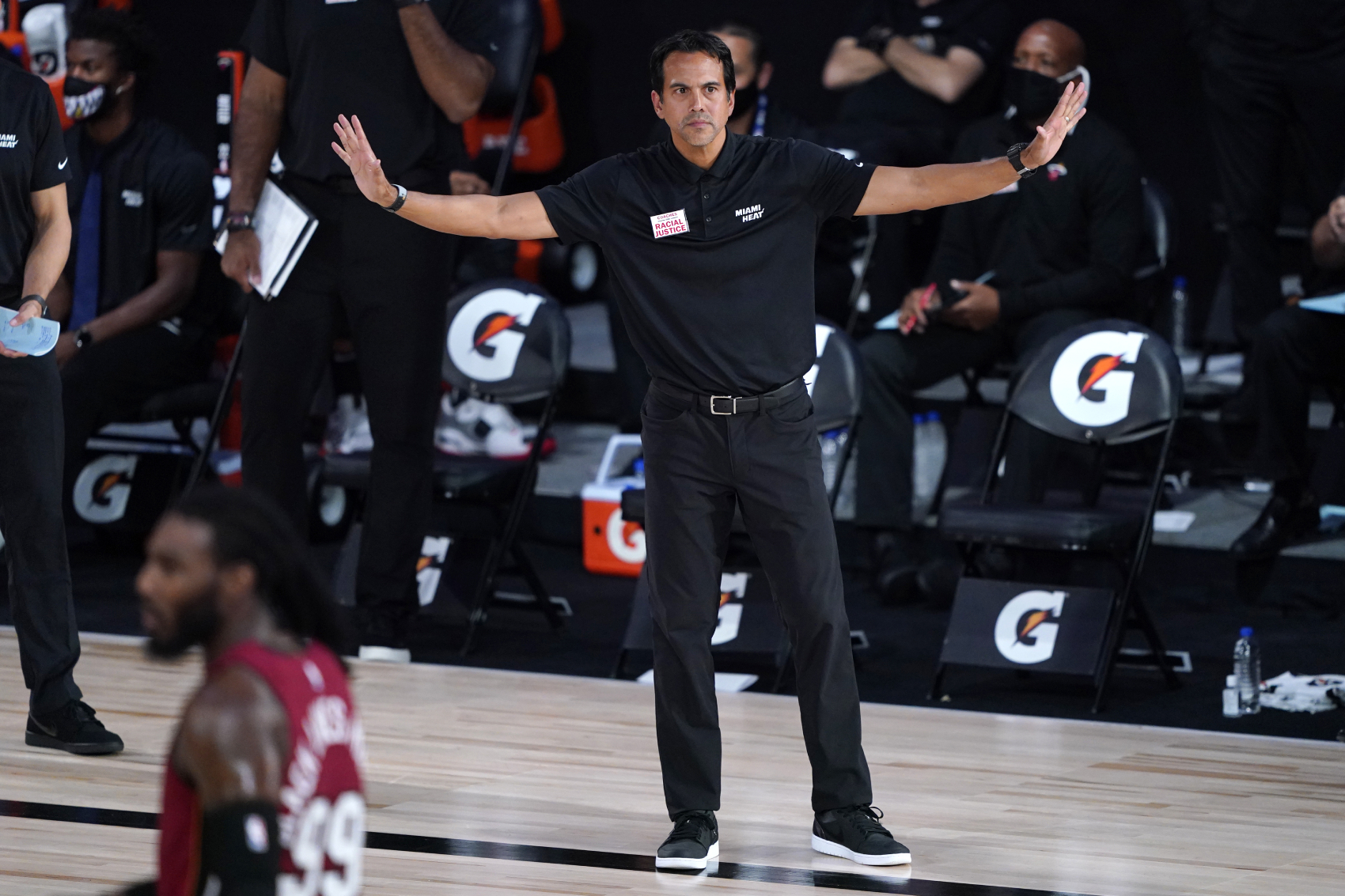 The Miami Heat are down 2-0 to the Lakers in the Finals. Head coach Erik Spoelstra, however, just revealed what they need to do to come back.