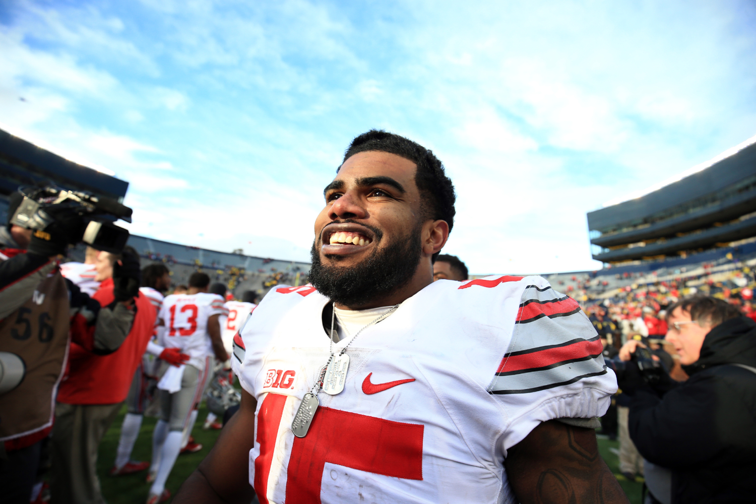 Ezekiel Elliott had a lot of success at Ohio State and has been great for the Dallas Cowboys. Is he on Ohio State's Mount Rushmore?