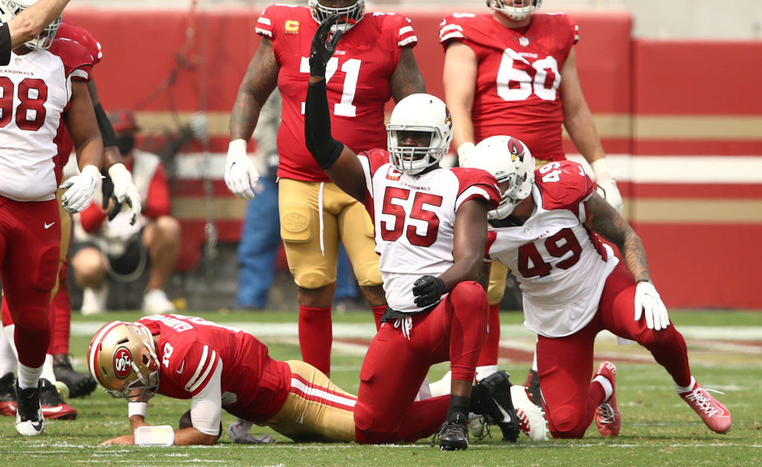 Chandler Jones is arguably the best pass rusher in the NFL, but he'll be spending the rest of the 2020 season on the sidelines with a biceps injury.