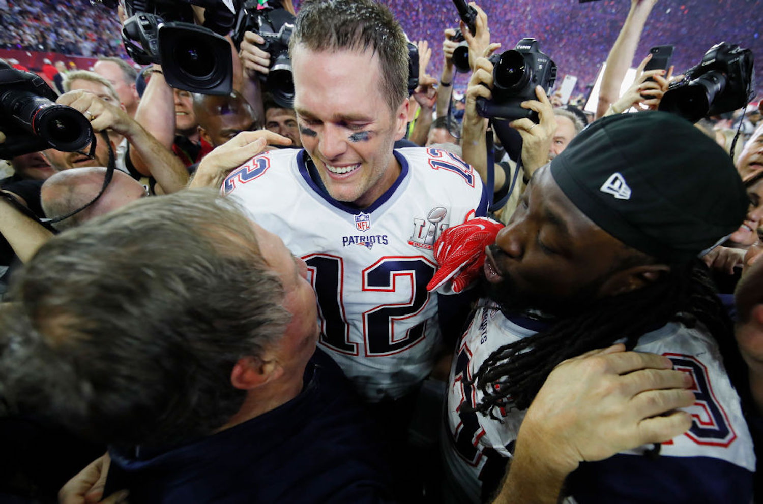 The question of who contributed more to the Patriots dynasty is one that will be debated in New England for decades. What's LeGarrette Blount's answer?
