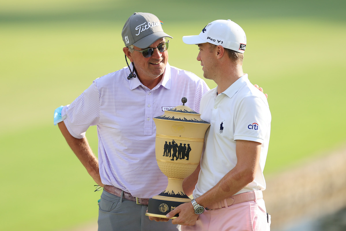 Justin Thomas and his dad