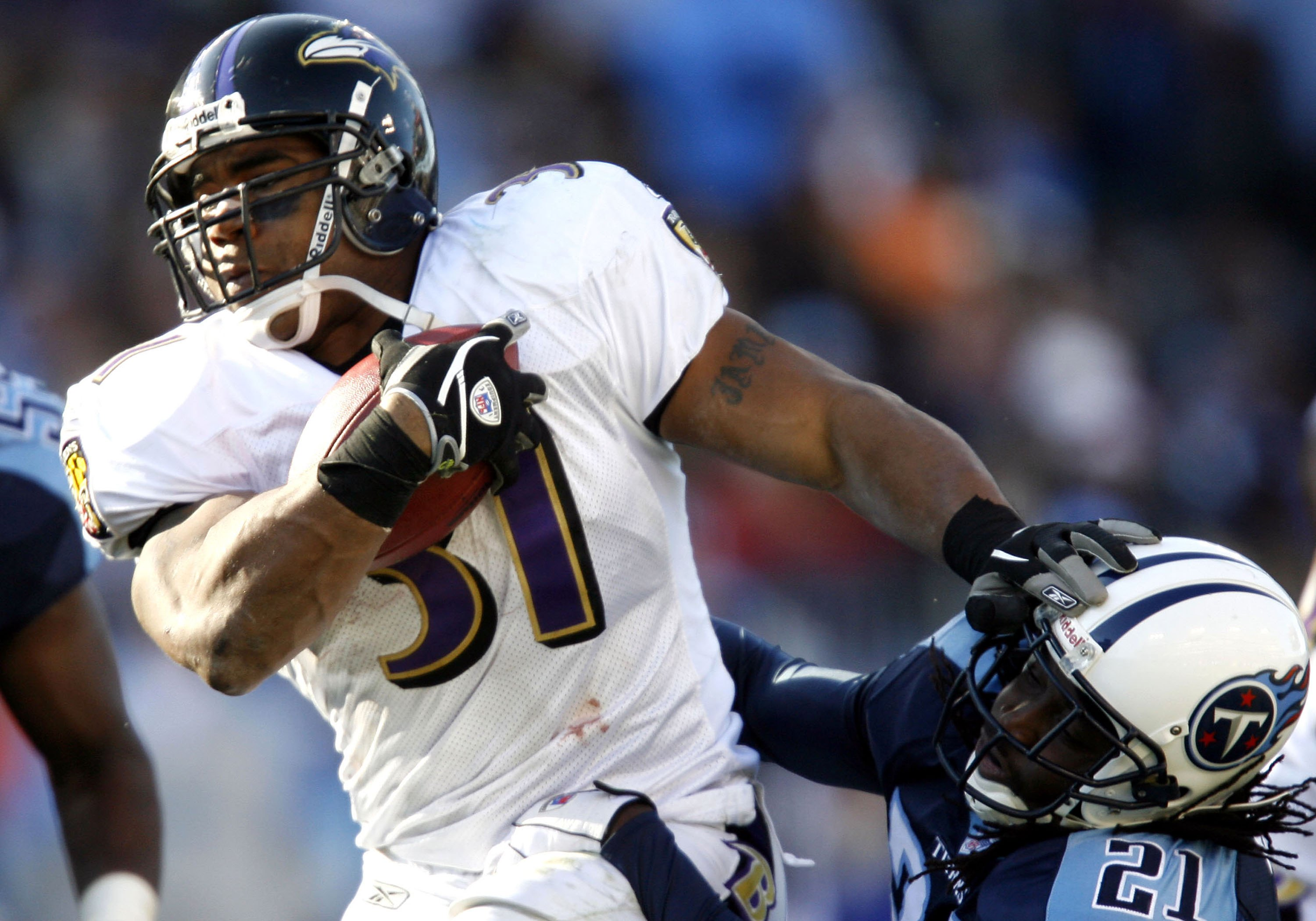 Former Baltimore Ravens running back Jamal Lewis' career wasn't the same after he served prison time in 2004 for his role in a drug ring.