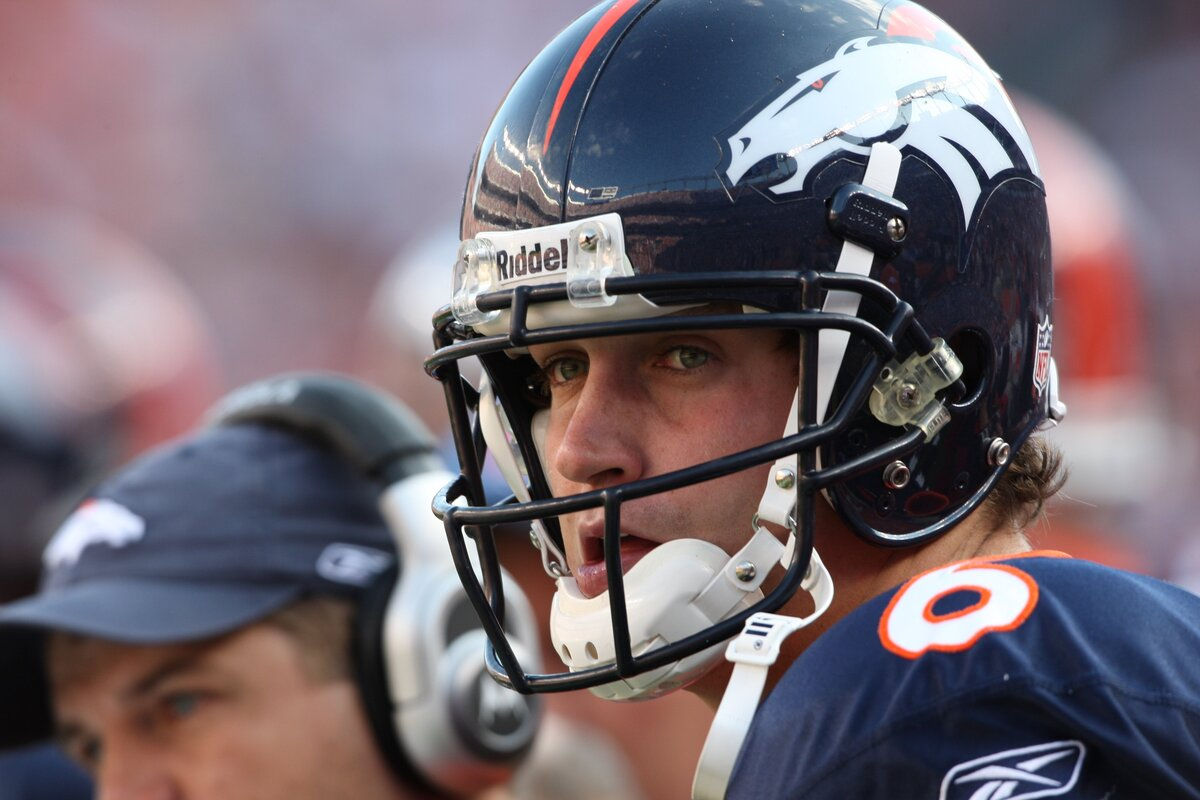 Jay Cutler, seen with the Denver Broncos in 2008, pouted and demanded a trade because he couldn't 'trust' new head coach Josh McDaniels.