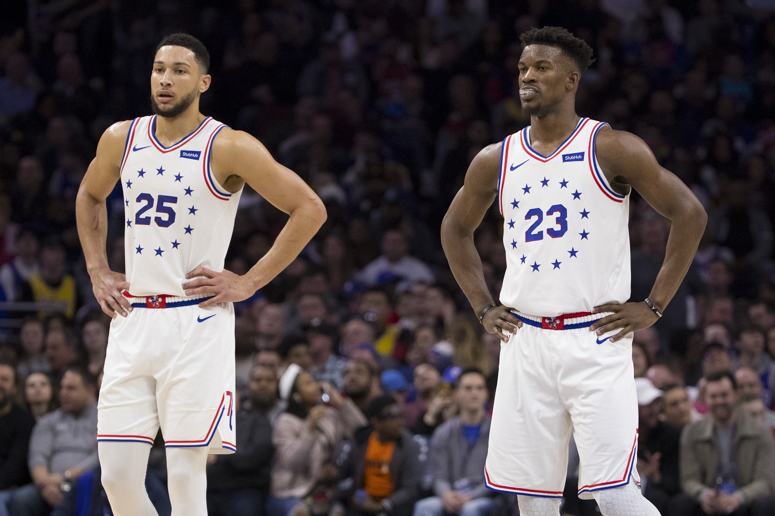 Jimmy Butler Ben Simmons 76ers not impressed