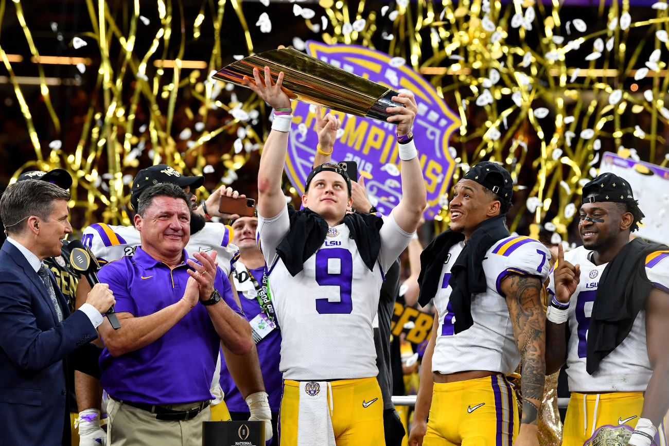 Joe Burrow had an incredible year at LSU in 2019. However, his play led to LSU wasting millions -- on head coach Ed Orgeron.
