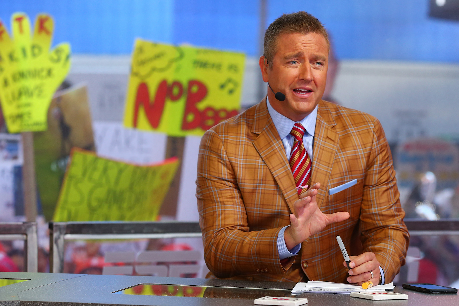 Kirk Herbstreit had to leave Ohio after some issues with Ohio State fans.