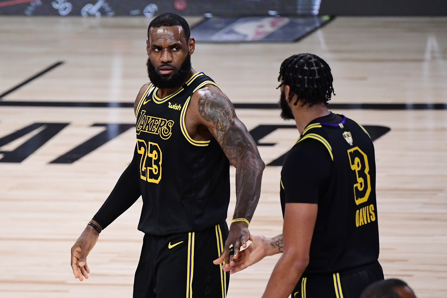 LeBron James Anthony Davis Lakers surprised