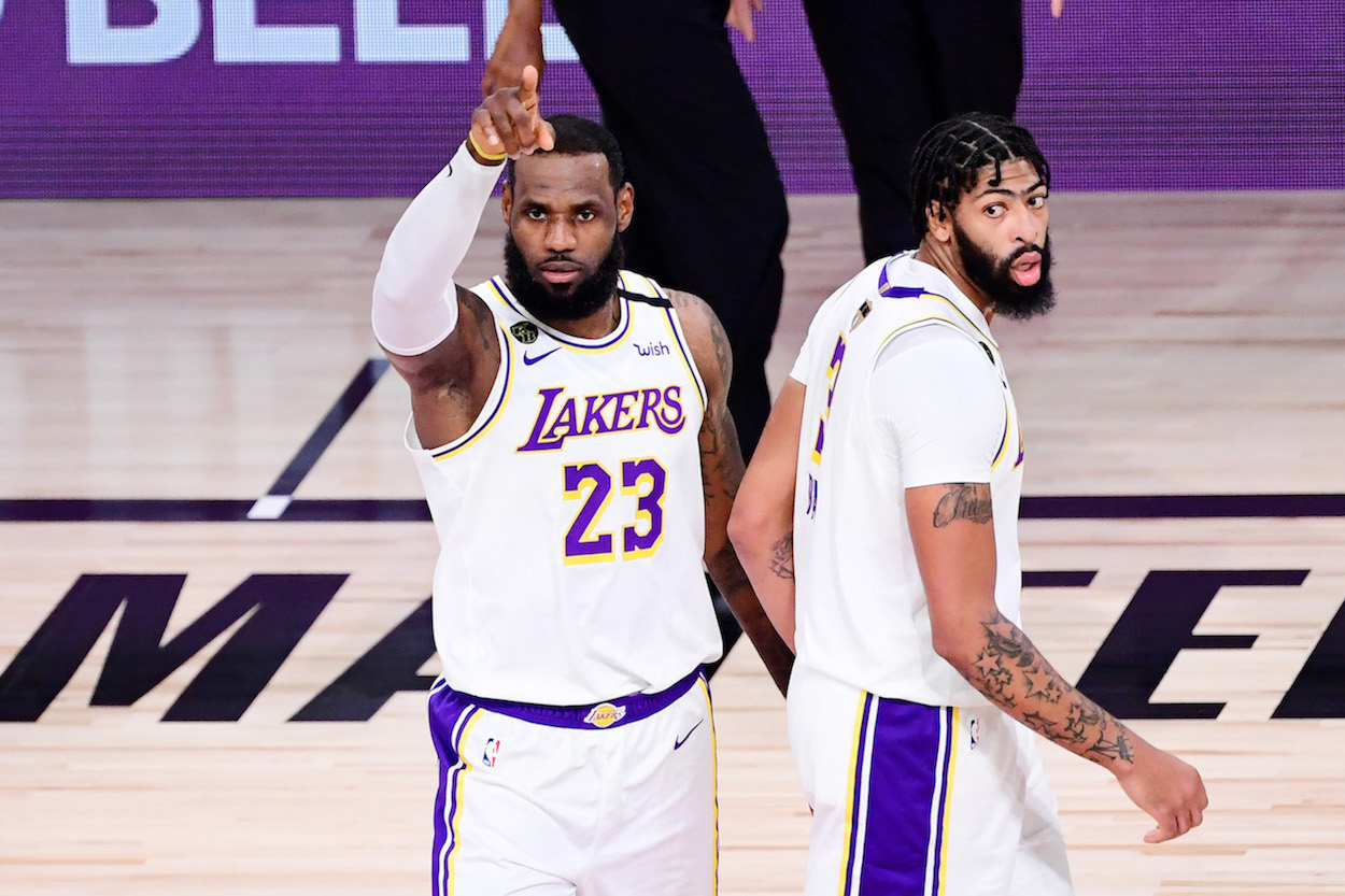 LeBron James sent an exciting message to Anthony Davis shortly after the LA Lakers won the NBA championship.