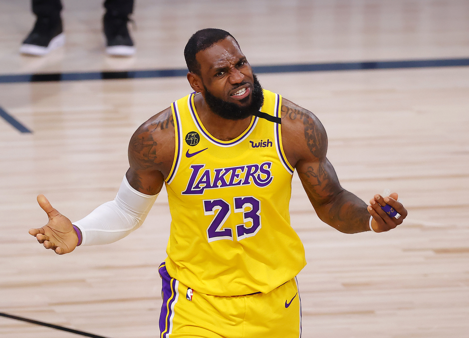 Ahead of Game 4 of the NBA Finals, LeBron James inspired his Lakers teammates with a simple, two-word text message.