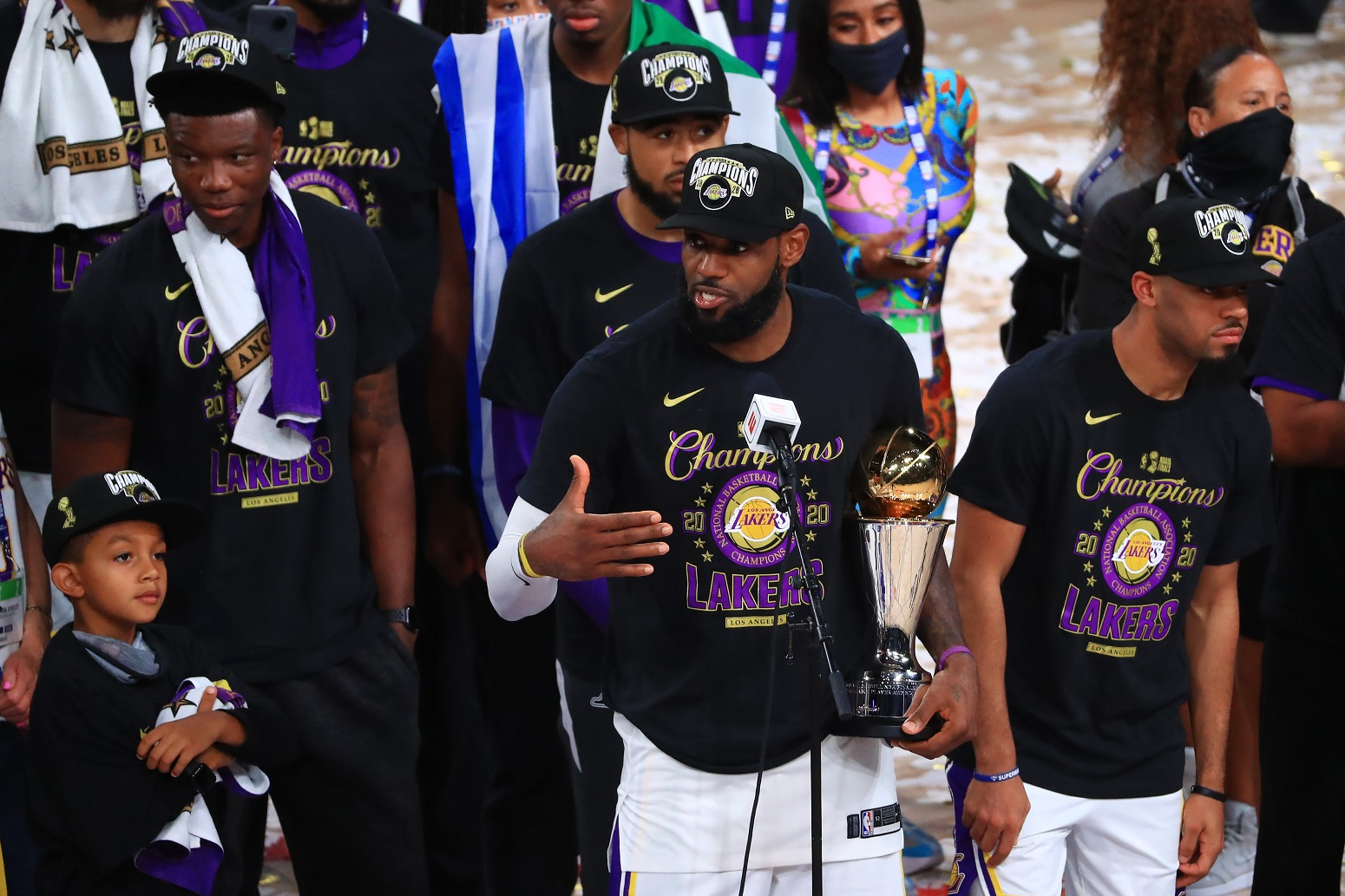 LeBron James NBA title Lakers
