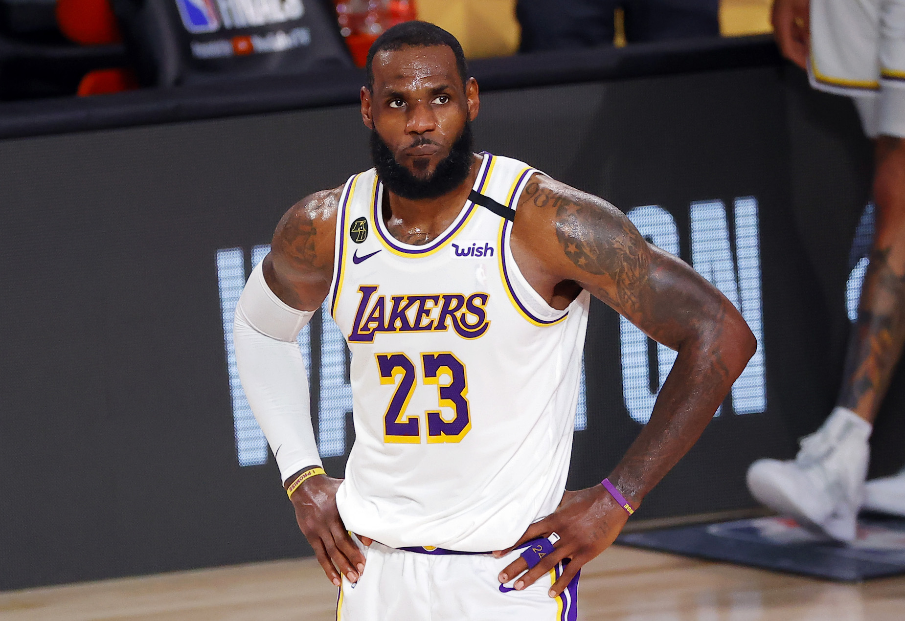 The LA Lakers dropped Game 3 of the NBA Finals but LeBron James isn't too concerned.