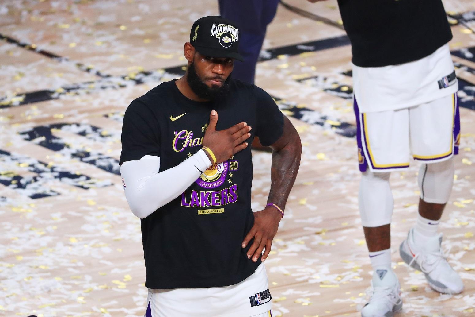 LeBron James Warriors player criticism NBA title