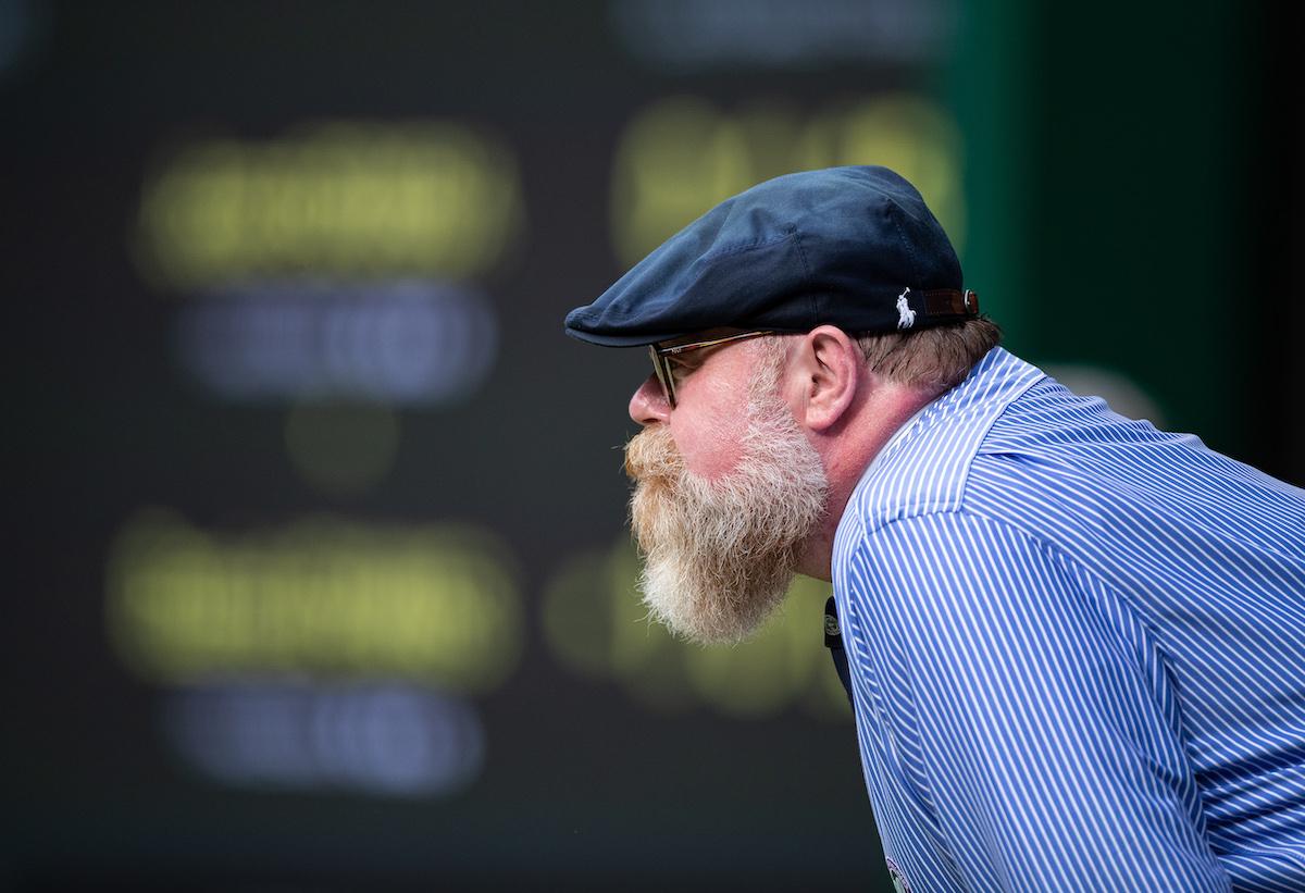 Line judge at Wimbledon