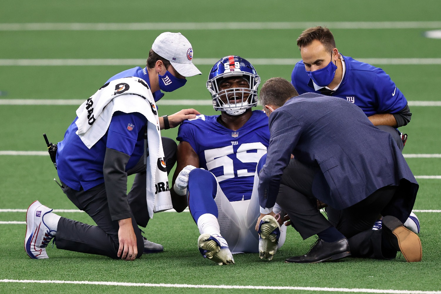 The New York Giants just rising star linebacker Lorenzo Carter to a season-ending injury in Sunday's loss to the Dallas Cowboys.