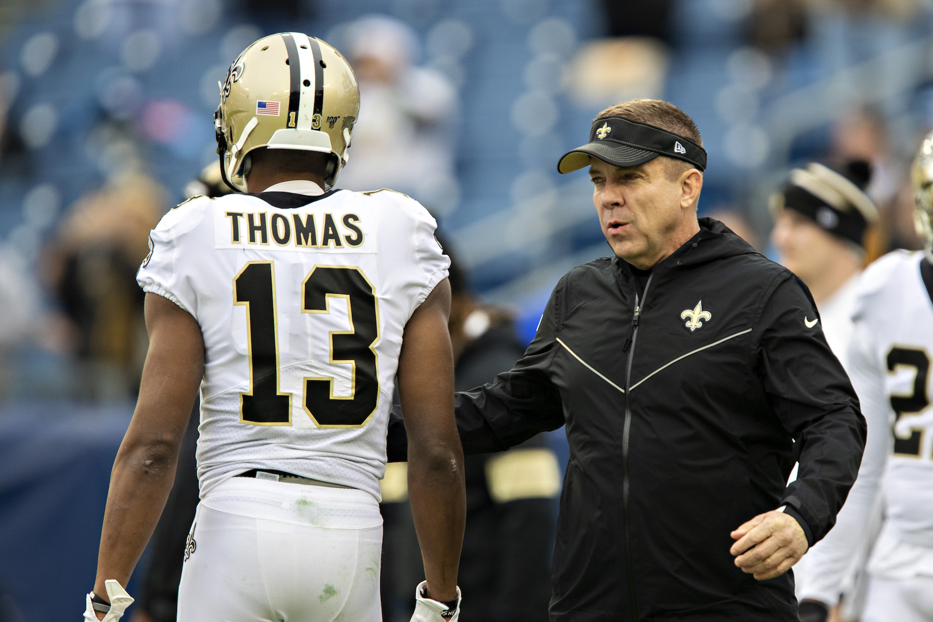New Orleans Saints head coach Sean Payton took to Twitter and sent a strong message about Michael Thomas' future.