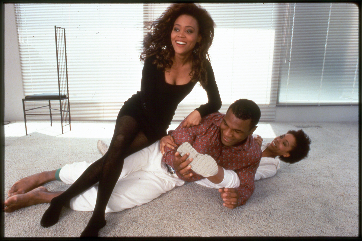 Mike Tyson, Robin Givens, and his mom in 1988