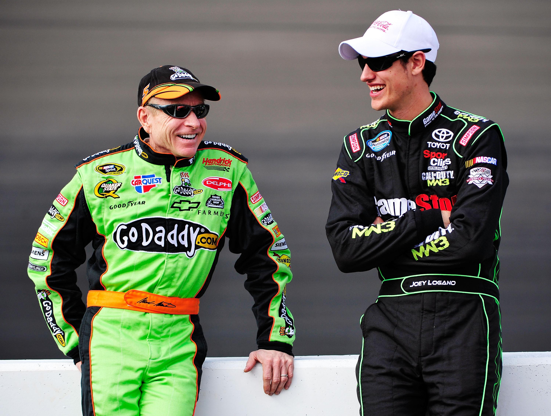 NASCAR stars Mark Martin and Joey Logano