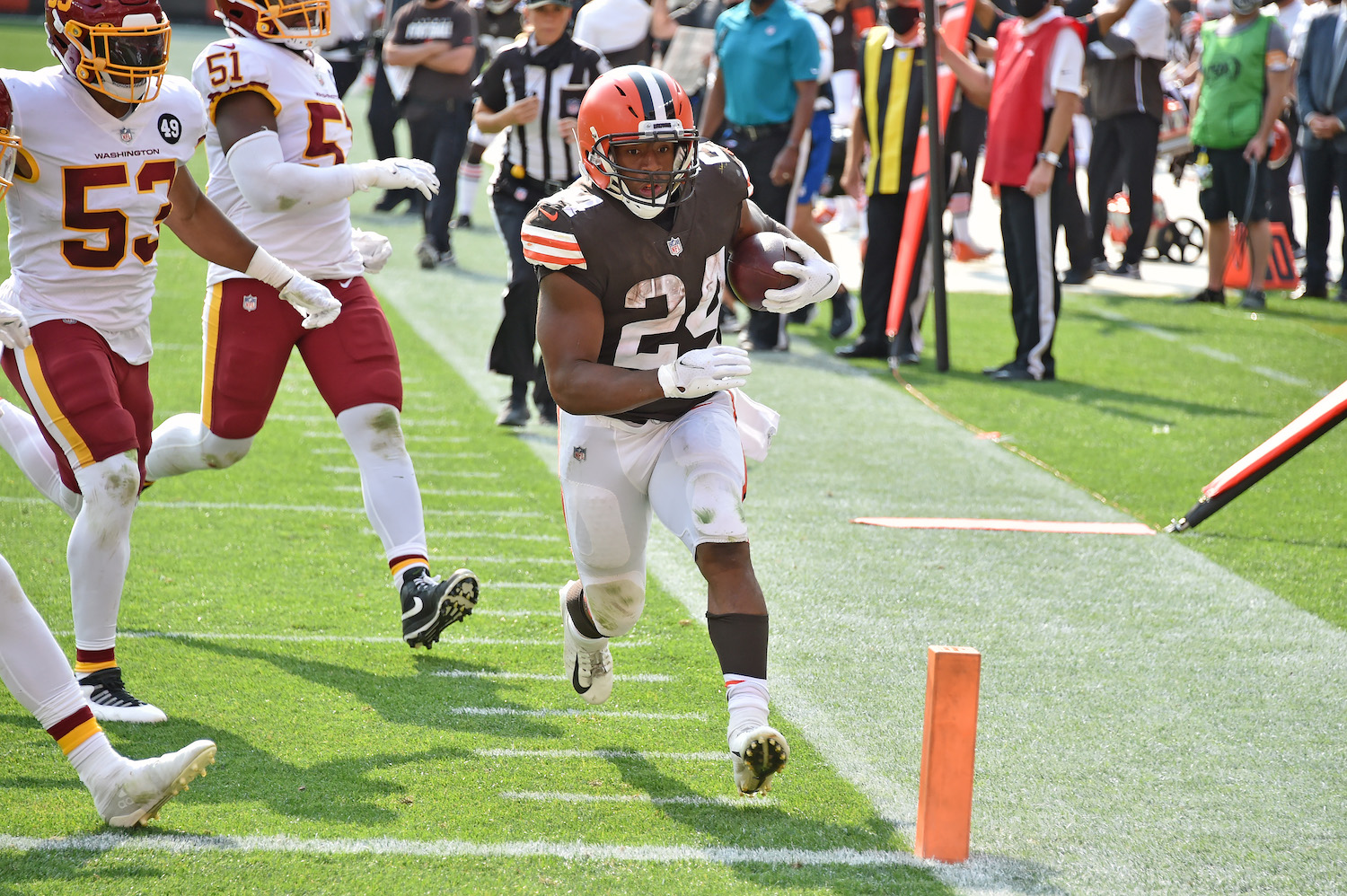 Nick Chubb #24 of the Cleveland Browns