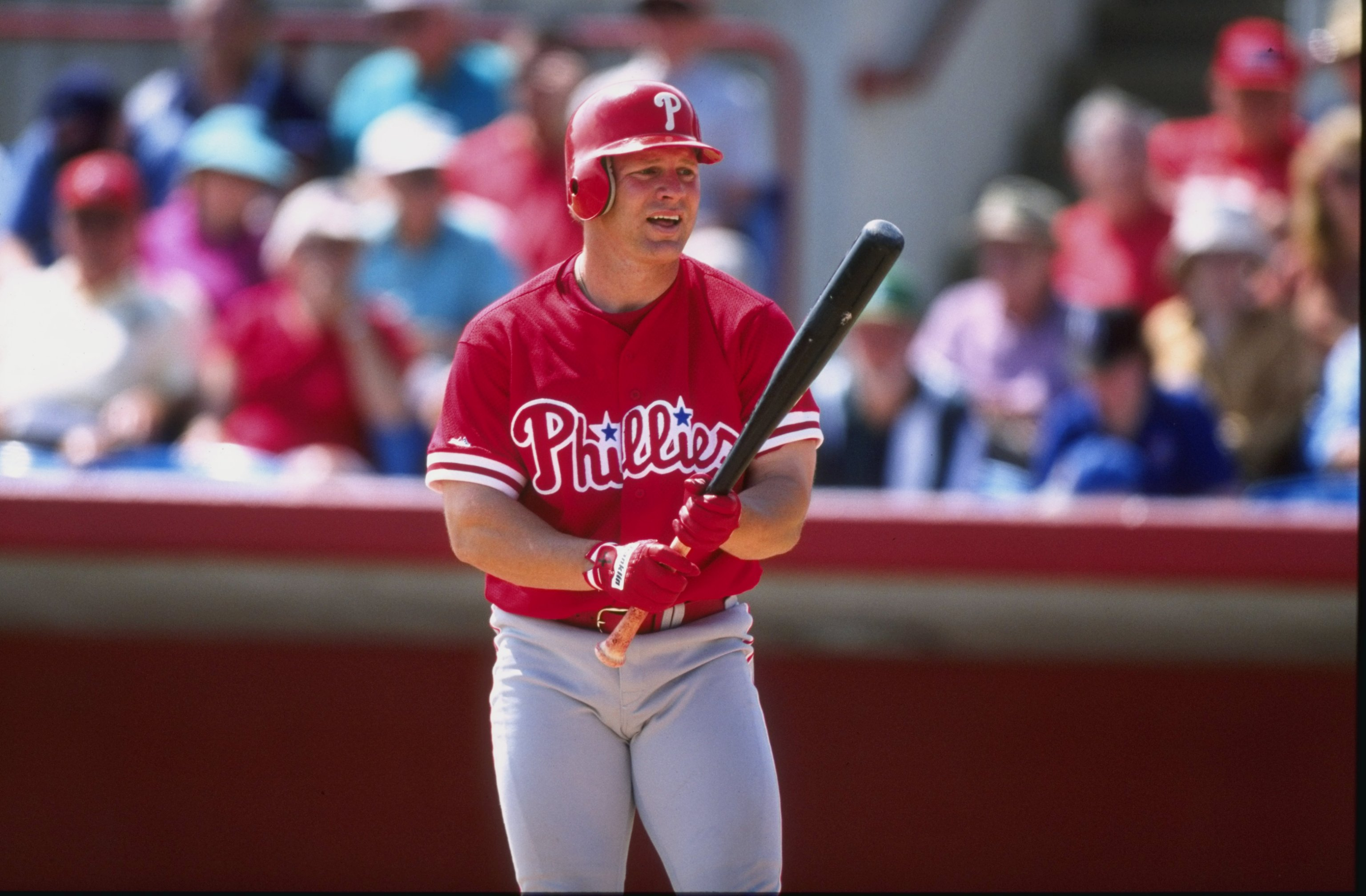 Lenny Dykstra of the Philadelphia Phillies