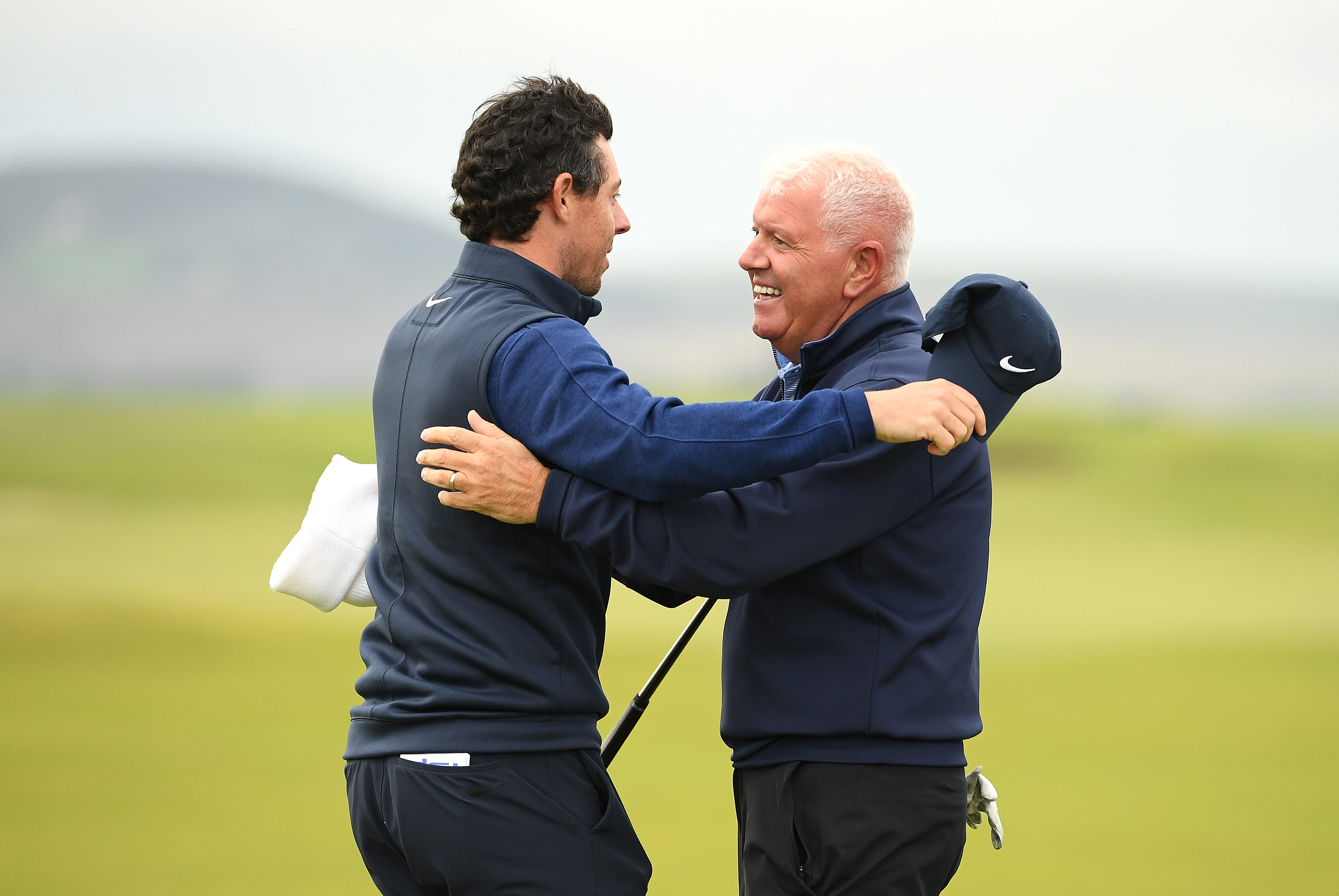 Golfer Rory McIlroy with dad Gerry