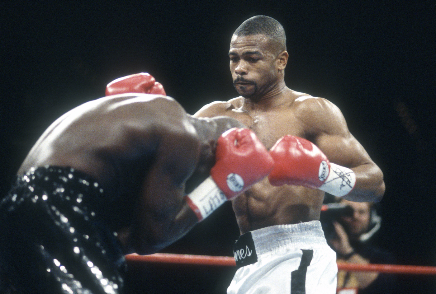 Roy Jones Jr. and Mike Tyson downplay the exhibition part of their upcoming fight.