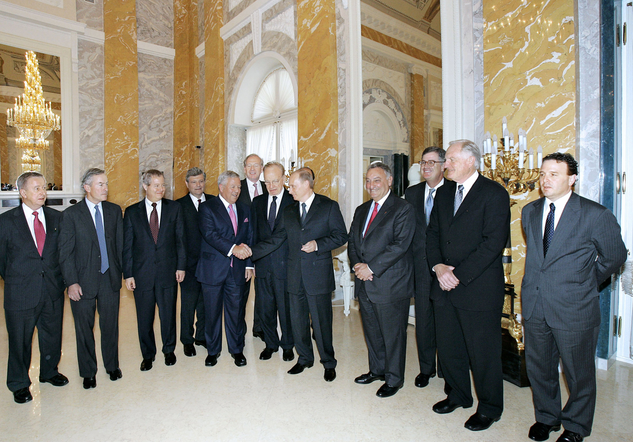 Robert Kraft with Russian President Vladimir Putin