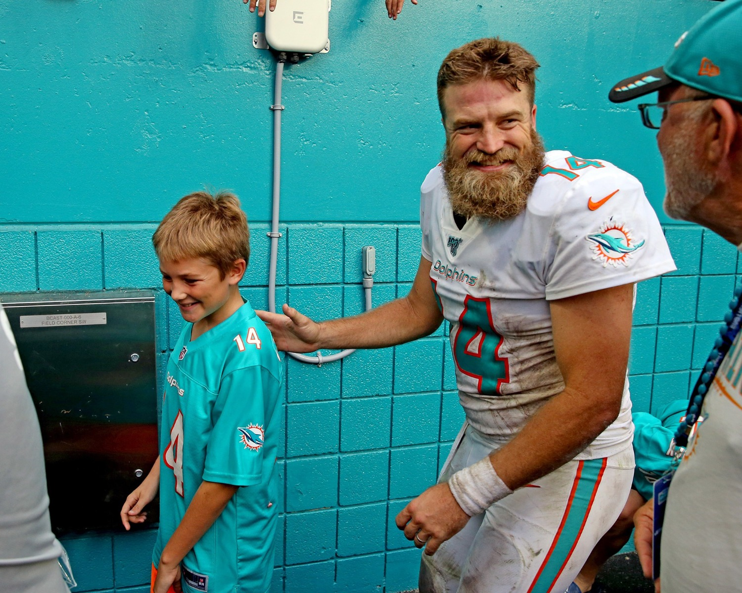 Dolphins QB Ryan Fizpatrick has nearly as many kids as NFL teams he has played for.
