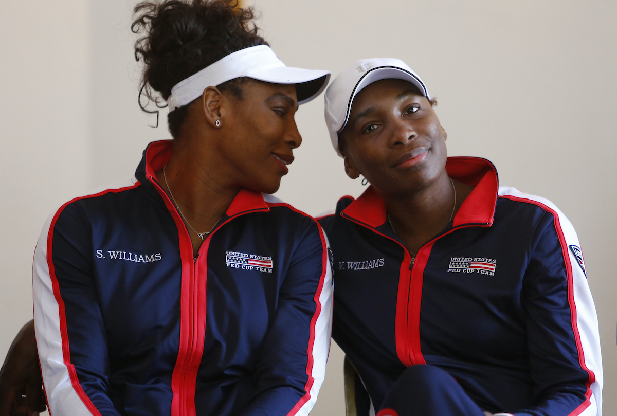 Tennis players Serena Williams and Venus Williams