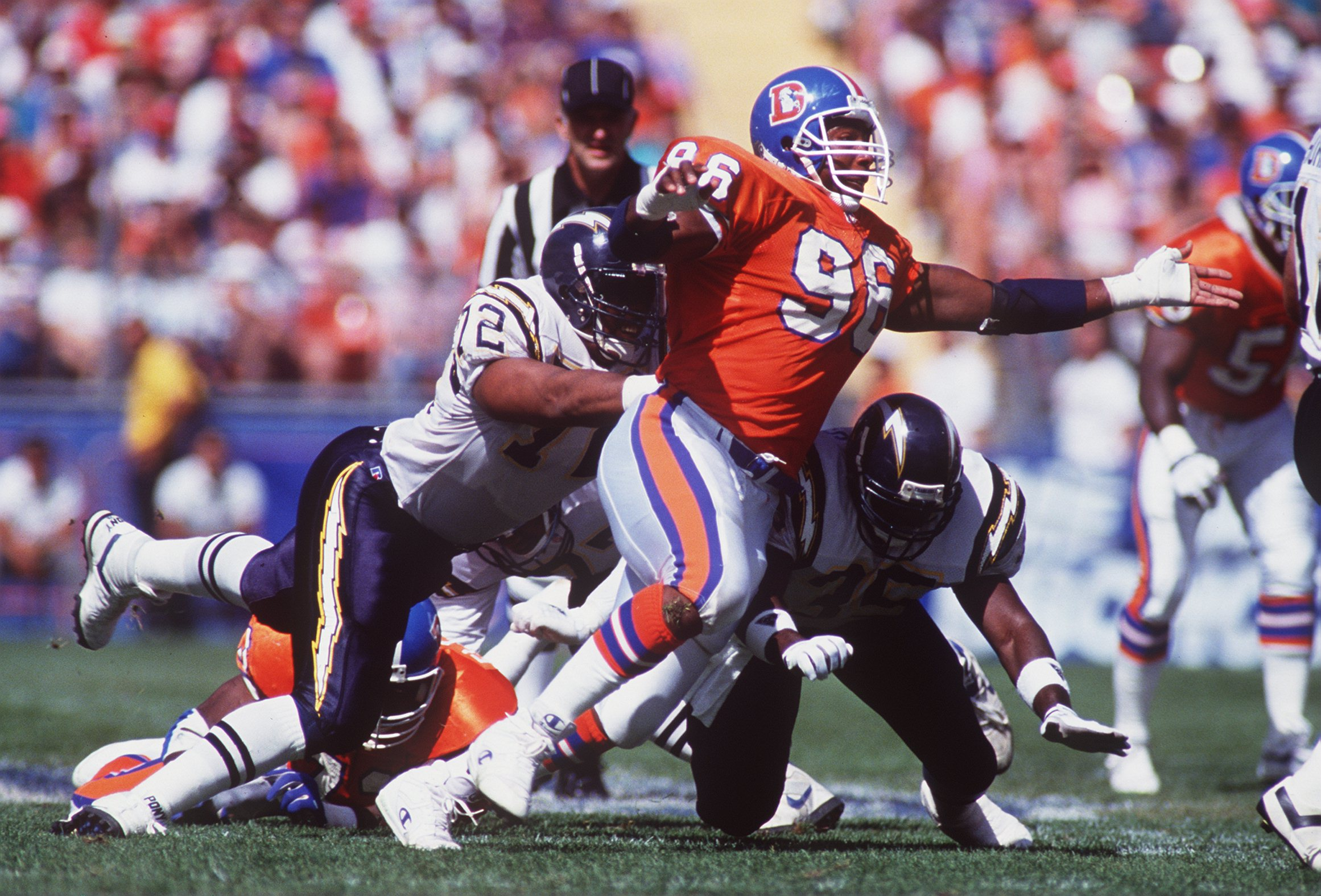 Former Denver Broncos pass-rusher Shane Dronett was on pace to become an elite sack artist before injuries interfered. Dronett tragically died at age 38.
