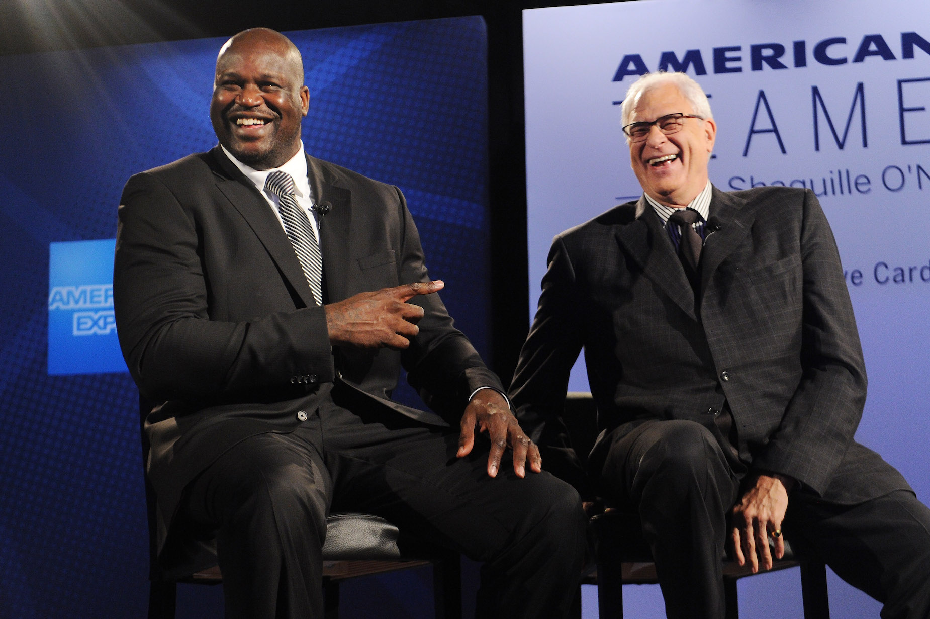 Shaquille O'Neal has become a business success, at least in part, thanks to Phil Jackson's guidance.