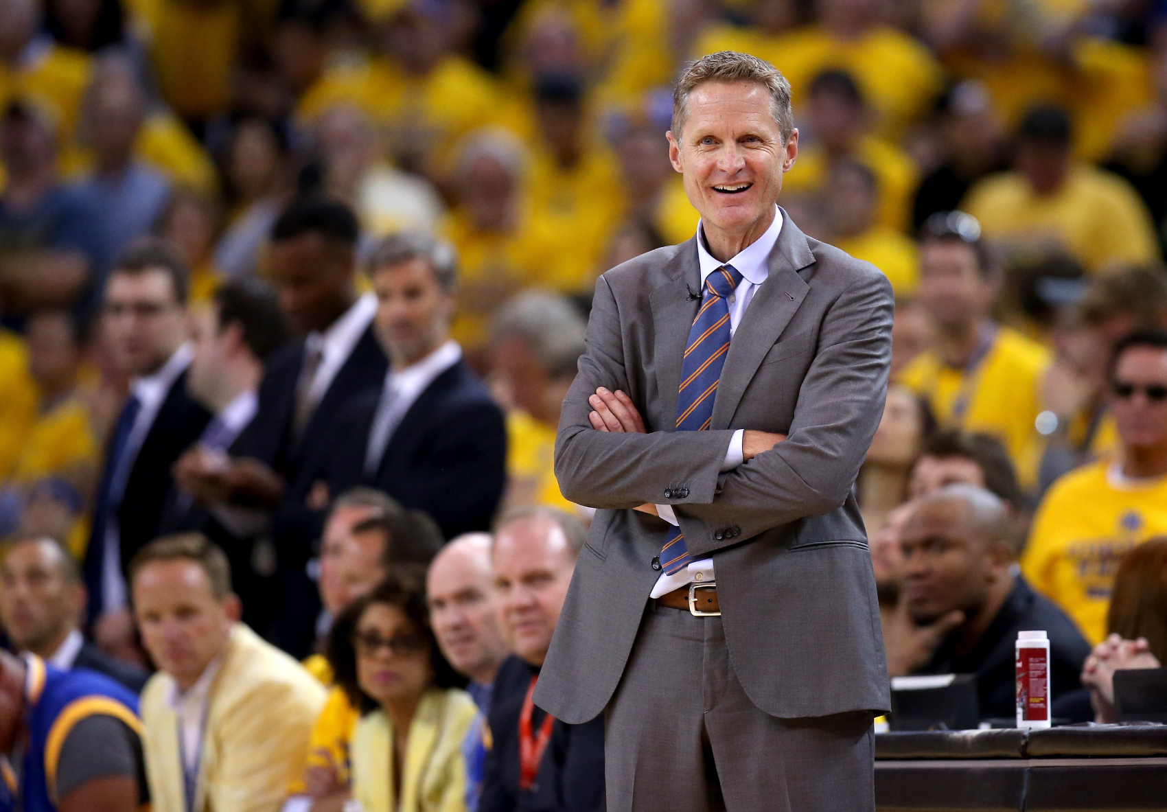 The Warriors' rivalry with the Rockets was not featured in the playoffs this year, but Steve Kerr is proving that it is still strong.