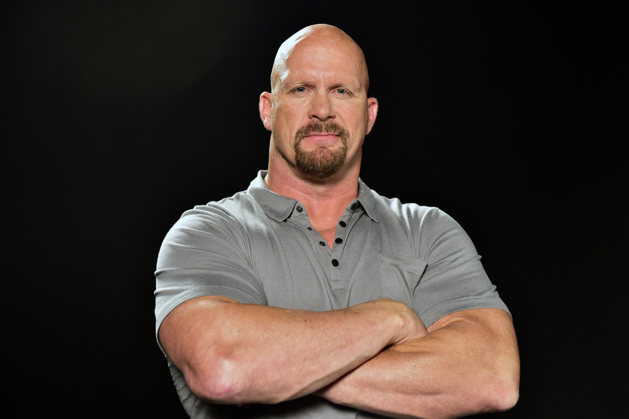 Stone Cold Steve Austin poses for a picture